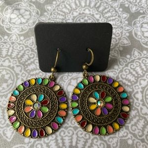 Bohemian style circle colorful earrings BRAND NEW